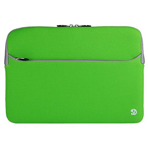 Vangoddy Neopren Sleeve Cover für Dell Inspiron & Latitude 12,5bis 33,8cm Laptops (Greem & Grau)