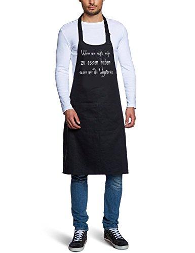 Coole-Fun-T-Shirts 10470 Men's Tablier de barbecue Wenn wir nichts zu mehr essen haben, essen wir die Vegetarien \\