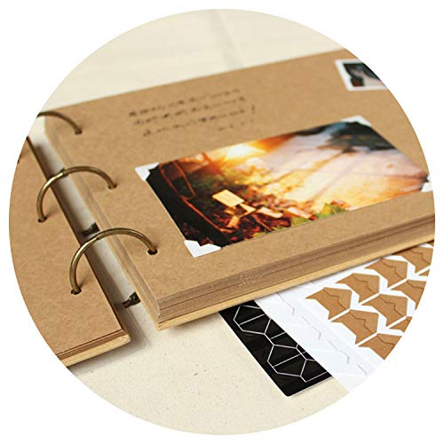 Margot-Charismatic-Shop Photo Albums Fotoalbum, Kraft-Album, Handbuch für Korea, kreatives Paar, Babypaste, Familienalbum, The Polaroid braun