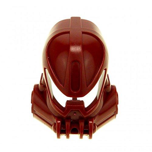 Bausteine gebraucht 1 x Lego Bionicle Figur Kopf Maske dunkel rot Kanohi Mask Huna ( TOA Metru ) Vakama Technic 8601 47308