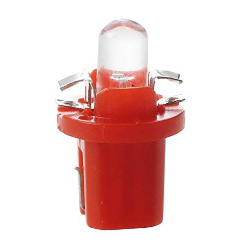R SODIAL 10 x LED SMD contador salpicadero B8-5 d T5 Bombilla con soporte Rojo SINTONIZACIoN