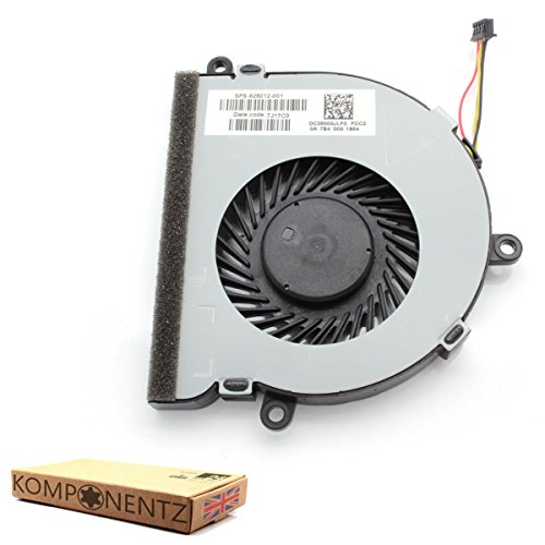 Price comparison product image Komponentz - New Replacement CPU Cooling Fan for HP Notebook 15-BS043NA 2CQ65EA#ABU