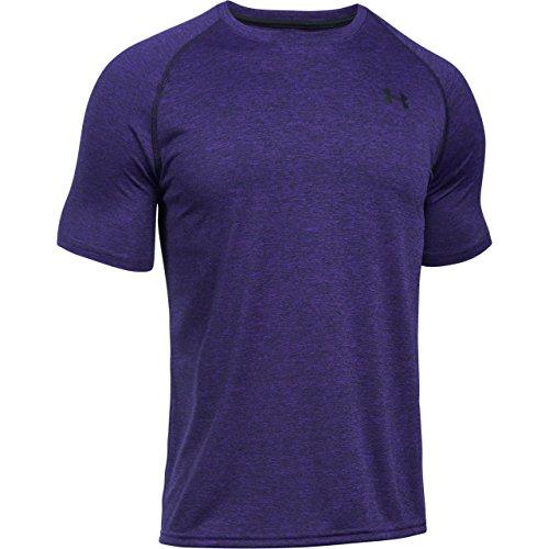 Under Armour Tech Short Sleeve Tee Shirt purple zest-black
