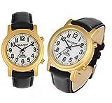 Lederband SOLAR Funkuhr Funkarmbanduhr GOLDENE Sprechende Uhr Armbanduhr Blinde