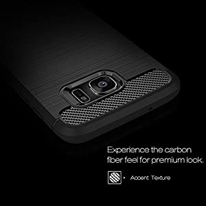 Cedo Rugged Armour TPU Military grade Shock Proof Back Cover Case for Samsung Galaxy S7 Edge (Black)