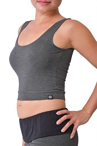 virblatt Yoga Tank Top Damen Bambus Funktionsshirt Damen Yoga Outfit Damen - Moksha gy sm -