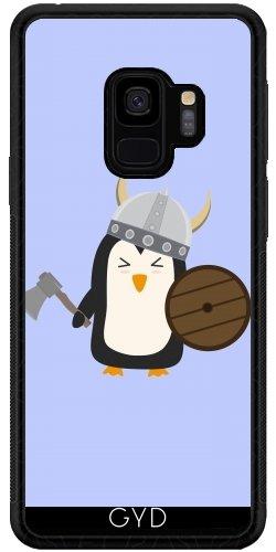 DesignedByIndependentArtists SilikonHülle für Samsung Galaxy S9 (SM-G960) - Pinguin Wikinger by Ilovecotton
