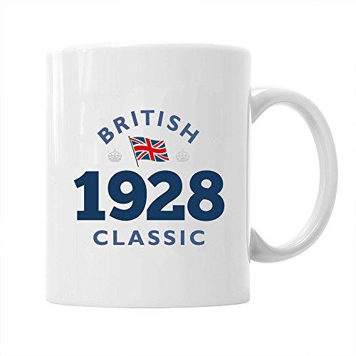 90th Birthday Gift British Classic Gifts For Men Women 1928 Coffee Mug