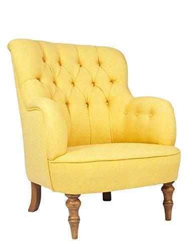 Retro Vintage Ohrensessel LELAND Gelb; Ohrensessel Vintage Gelb ...