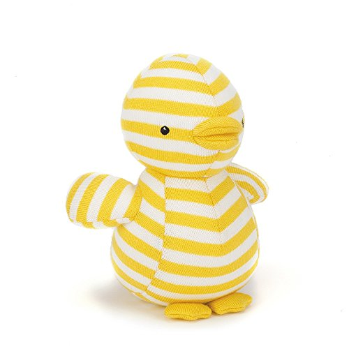 Image of Jellycat Chimes Soft Toy - Dilys Duck - 19cm Yellow/cream, from birth