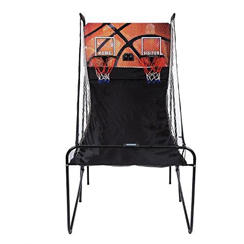 Acecoree Elektronische basketball-spiel Shoot-Out Doppel Wurfanlage mit 5 Basketball Basketballkorb (Elektronische Basketball-arcade)