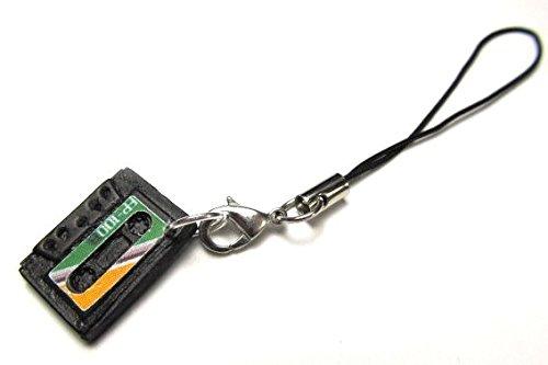 Cassetta nastro numerva Miniblings gioielli cellulare Mixtape ciondolo a forma di musica DJ verde
