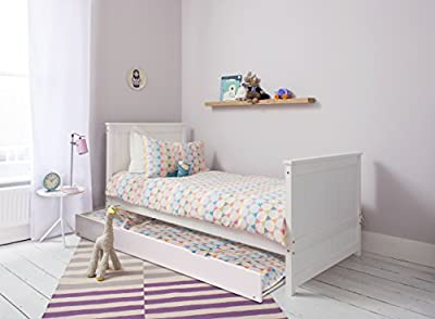 Trundle Pull out Extra Guest Bed in White. Add to a Single Bed