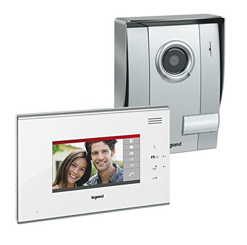 "Legrand LEG369300 - Kit de videoportero (pantalla táctil de 7"", en color), color blanco"