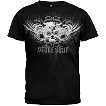 Stone Sour - - Grey One Adult T-Shirt in Schwarz, Large, Black
