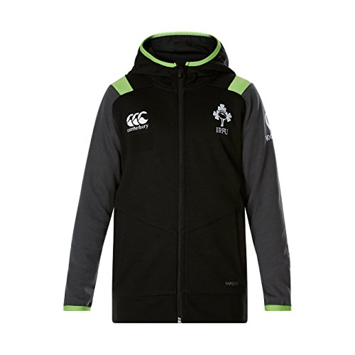 Canterbury Offizielles IRFU Kinder Irland Rugby Fleece Full Zip Hoody M Tap Shoe
