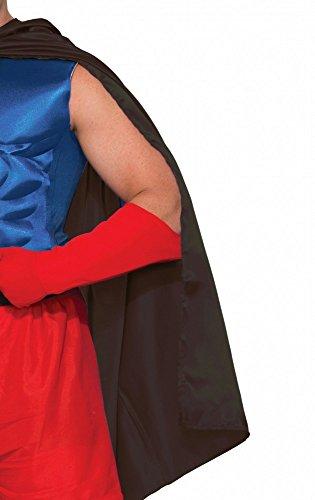 Preisvergleich Produktbild Accessoires für Superhero Herren Kostüm,  Umhang Schwarz
