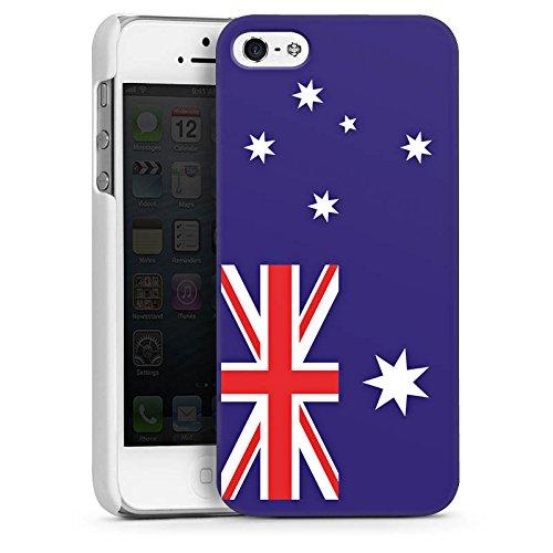 Apple iPhone 4 Housse Étui Protection Coque Australie Drapeau Ballon de football CasDur blanc