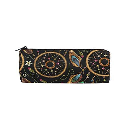 Ahomy - Estuche para lápices con cremallera, diseño de plumas de atrapasueños, para adolescentes y niños, bolsa de maquillaje de viaje para mujeres
