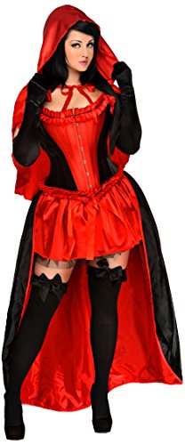 Red Riding Hood Kostüm Accessoires - Daisy Corsets Damen 5-teiliger roter Riding
