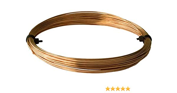 0.9mm Copper Craft Wire Pale Gold 5m Coil Accessory DIY Jewellery Making Crafts
