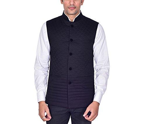 Ellegent Exports Men's Cotton Quilted Designer Modi Nehru Jacket Special Eid Gift...
