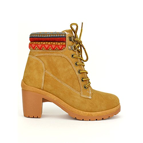 Cendriyon, Bottine TIMBERS Camel Chaussures Femme Caramel
