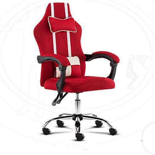HEIFEN Beweglicher Sitz, ergonomisches Design, herausnehmbares Design mit Kissen/Lendenkissen, höhenverstellbare 360 ° -Drehung Red