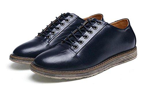GLTER Männer Sportschuhe tragen flachen Mund mit Klettern Schuhe rutschfeste Leder Schuhe Blue