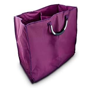 panier linge 2 compartiments avec poign es de transport cuisine maison. Black Bedroom Furniture Sets. Home Design Ideas