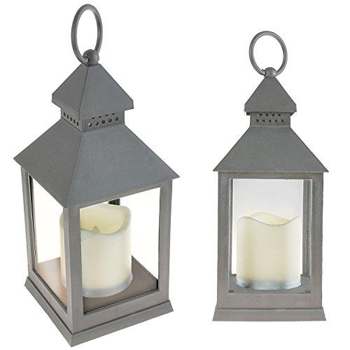 Ambiente LED parpadeo Vela Llama menos farol de pie plástico ligero interior para colgar decoración