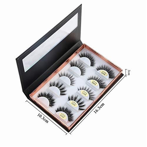 masrin Leere Wimpernaufbewahrungsbehälter-Behälterhalterfachwerkzeug-Aufbewahrungsbox (Schwarz)