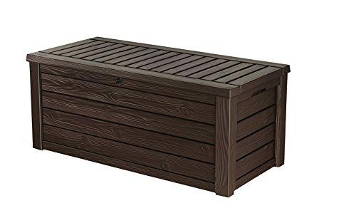 Keter Westwood Kunststoff Deck Container Box Outdoor Terrasse Garten Möbel 150gal, braun (Suncast Outdoor-deck)