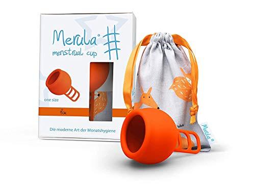 Merula Cup Fox - Copa menstrual (silicona, tamaño único), color naranja