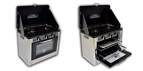ALTIGASI kocher A Gas GPL für Camping und Nautica Vulcano mit Piano a 2Brenner mit Herd mit Thermostat-Piezozündung-Ideal für Camping