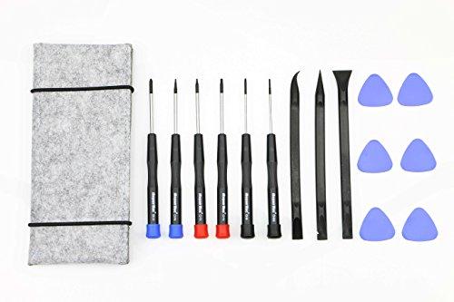 Preisvergleich Produktbild 15 Stück Reparatur werkzeug, Schraubendreher, Opening pick, Spudger und Werkzeugtasche für MacBook Air, Retina Pro