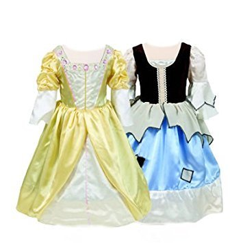 Girls Kids Childrens Princess/Pauper Cinderella Fancy Dress Reversible Costume 6-8 - Reversible Cinderella Kostüm