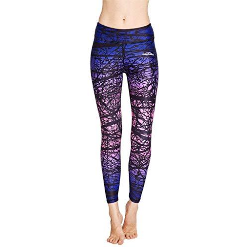 Damen Radfahren Strumpfhosen (COOLOMG Damen Leggings Yoga Lang Hosen Kompression Sport Trainingshose S)