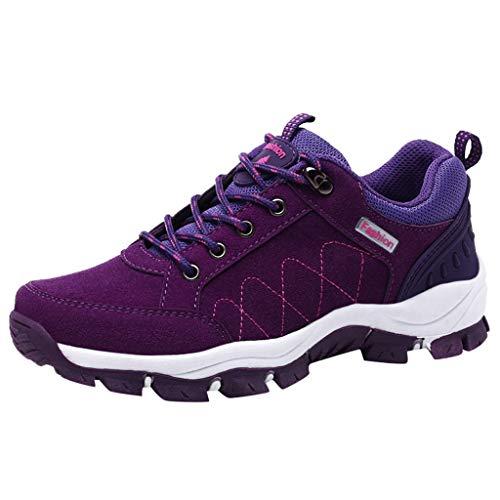 Yearnly Wanderschuhe Herren Damen Wanderstiefel Atmungsaktiv Turnschuhe Sportlich Bequem Outdoor Walking Wandern Trekking Anti-Rutsch Schuhe für Unisex