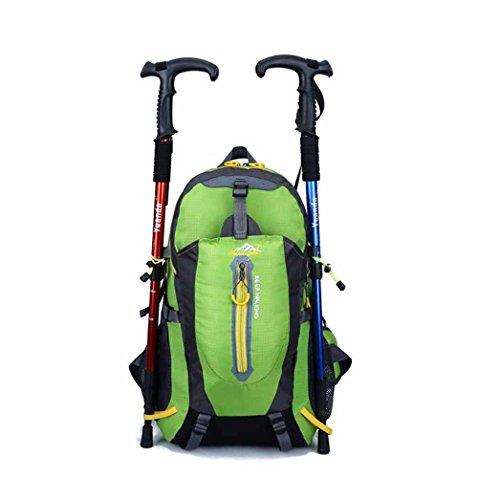 AllureFeng Outdoor wasserdichte großvolumigen Sportklettern Tasche Rucksack camping Wanderrucksack für Männer und Frauen 40L Green