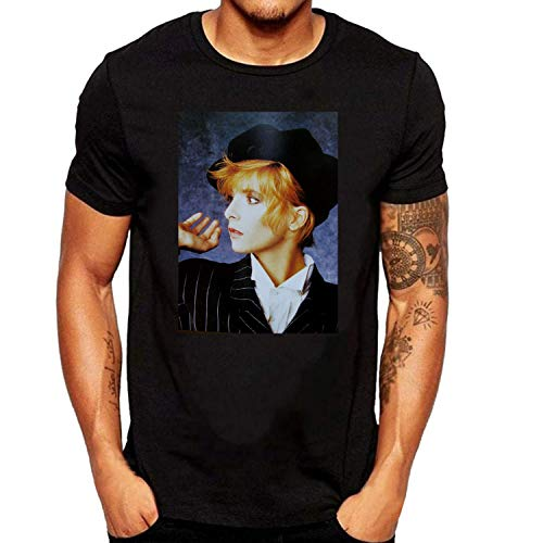 SEVENSIQI Mylene Farmer Art Homme Short Sleeve Neck Manches Courtes/T Shirt Black