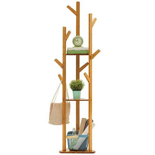 garderobe vintage wei  WZ-Kleiderhaken Vertikale Garderobe Multifunktionale Bambus Kleiderbügel Hut Handtasche Handtasche Aufhänger Halle (170cm)