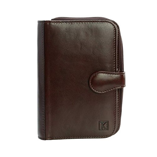 TK 1979 - Organiseur toute-en-une. cuir italien marron TK104 - Porte-stylo. cartes. monnaie. porte-feuille - Marron, Cuir