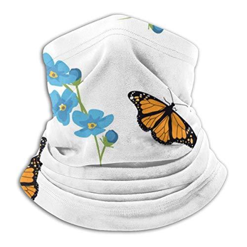 Belongtu Nackenwärmer Mund Maske Floral Headband Face Mask Bandana Head Wrap Scarf Neck Warmer Headwear Balaclava for Cold Weather Winter -