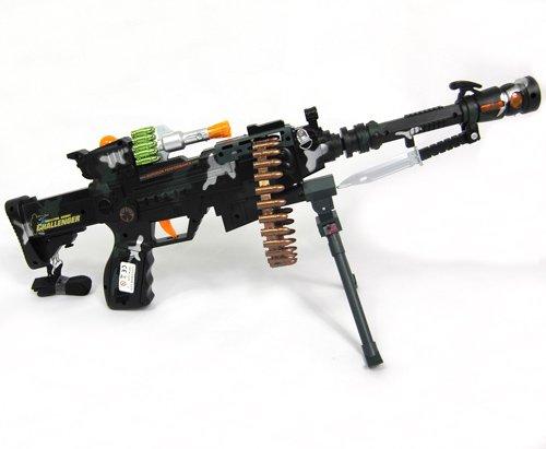 Gewehr Spielzeug 56cm mit Licht und Soundeffekte Combat3 Maschinengewehr Waffe Kinderspielzeug (Automatisches Maschinengewehr)