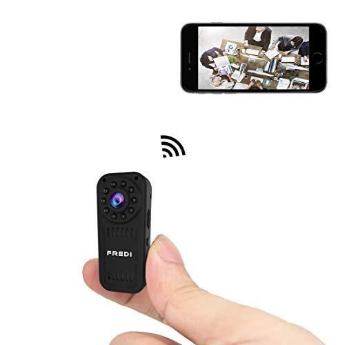 FREDI Cámara Espía HD 1080P Mini Cámara Oculta Portátil Interior/Exterior...