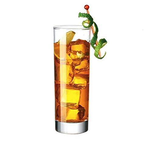 LARRY SHELL 6Pcs Tumbler Cups Trinkgläser - Acryl Highball Becher klar unzerbrechlich Wiederverwendbare Küche Trinkgeschirr Spülmaschinenfest Bpa frei Hard Rocks Glas Trinkbecher für Wein Wasser Saft - Heavy Base Rocks Glas