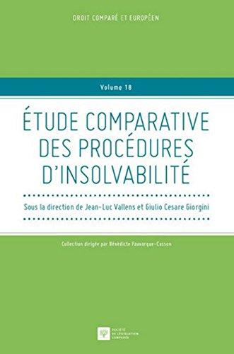 Etude comparative des procdures d'insolvabilit