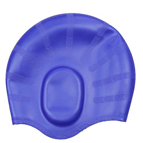 Tukistore cuffia da nuoto in silicone per capelli lunghi, cuffia da nuoto impermeabile, cuffia da nuoto impermeabile resistente e altamente elastica