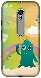 The Racoon Lean printed designer hard back mobile phone case cover for Motorola Moto G 3rd Gen. (In the Clo)